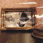 Рамка для фотографий из натуральных материалов