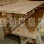 Деревянные столы и лавки для дома и баз отдыха