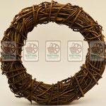 рождественский венок, натуральные материалы (лента с логотипом)