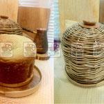 плетеная хлебница, деревянная хлебница