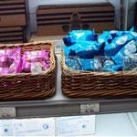 плетеные лотки для выкладки товаров