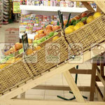 Витринные плетеные глубокие корзины для фруктов и овощей