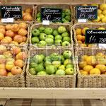 Торговое плетеное оборудование для выкладки овощей и фруктов в гипермаркетах Белоруссии