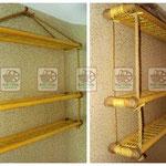 Плетёная полка подвесная для квартиры или дома, заказ на любые размеры