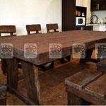 деревянный гарнитур, состаренная мебель