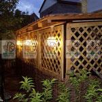 деревянные решётки любой сложности для оформления веранд и беседок