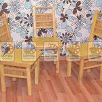 Плетёные деревянные стулья
