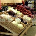 Плетёные прочные ящики-корзины для торговых точек под овощи