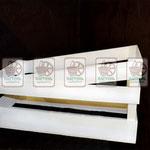 """Торговое оборудование: деревянные ящики, облегчённые, крашеные, """"косые"""""""