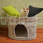 плетеный домик для кошки, игровой