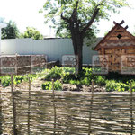Натуральная плетёная детская площадка