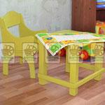 """Деревянные крашеные стол и стул, качество: """"коммерческое"""" для детской. Цвет любой под интерьер комнаты"""