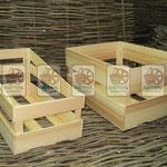 Торговое оборудование: деревянные ящики, облегчённые