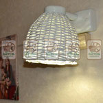 плетёный светильник из лозы, крашеный под французский стиль