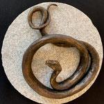 Kunstguss Bronze Schlange