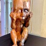Kunstguss Bronze mit Holz