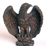 Kunstguss Bronze Falke