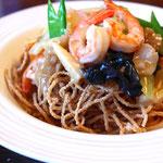 純麺家フライド大麦麺の皿うどん(大麦麺)