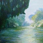 """Matinée Seine"" Acryl auf Leinwand / Acrylique sur toile 50 x 70 cm"