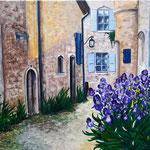 """""""Vieille France"""" Acryl auf Leinwand / Acrylique sur toile 50 x 70 cm"""