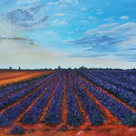 """Roussillon"" - Acryl auf Leinwand /  Acrylique sur toile   50 x 70 cm"