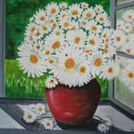 """Marguerites"" - Öl auf Leinwand 60 x 80 cm"