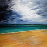 """""""Gewitter in der Normandie"""" - Acryl auf Leinwand / """"Orage en Normandie""""  Acrylique sur toile  80 x 100 cm"""