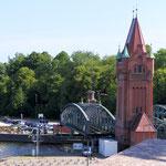 Hubbrücke, Marstallbrücke Bjh.1900 über Elbe-Lübeck-Kanal