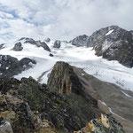 Toujours depuis le sommet côté 2926m, Dôme et Aiguille de Polset, Aiguille de Péclet