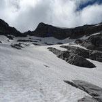 Pointe de Chombas, lors de la descente sur le lapiaz