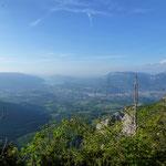Chambéry et lac du Bourget depuis la Pointe de la Gorgeat