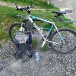 Transition entre vélo et marche