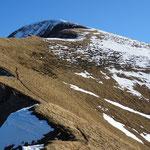 Pente terminale pour atteindre le Mont d'Armenaz