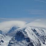 Lenticulaires sur le Mont-Blanc
