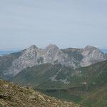 En face, Jallouvre, Pointe Blanche, Pointe du Midi
