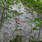 La flèche qu'il faut trouver pour sortir du vallon d'Ablon