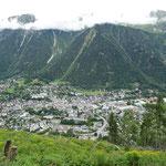 Départ de Chamonix