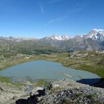 Lac des Séracs et Mont-Blanc