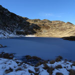 Lac de l'Aiguillette sous la glace