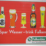 Falken Schaffhausen Spar Wasser, trink Falken Werbeplakat
