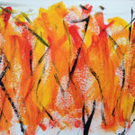 Keep the fire burning, 25 x 35 cm, mixed media on paper