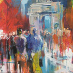 Triumphbogen Paris - 120x100cm Leinwand