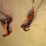 Tanzende Füße - Acryl