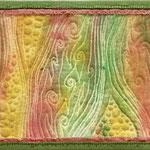 A4, tosidig, maskinquilting, tekstilmaling, bomull
