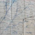 © Der Hintergrund wurde zuerst auf Papier gezeichnet und als Vorlage für das Stoffmalen verwendet