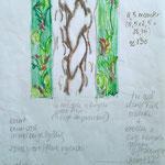 © Die erste Skizze, obwohl ich Schlangen nicht leiden kann, habe ich mich für die Struktur der Schlangenhaut entschieden