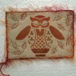 Schablonendruck mit paintsticks, maschinenquilten, baumwolle