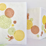 Leporello Cover Flower Power 26x73cm, applikationen, maschinenquilten, leinen, organza