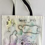 Morsebag stor 40x40cm, tekstilmaling med sjablonger, bomull