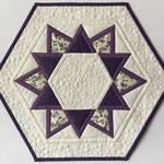 Tischdecke Hexagon 52x46cm